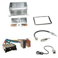 Doppel 2-DIN Blende+ISO Adapter+Anten für Hyundai Santa Fe SM Facelift 2004-2006