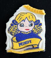 """VINTAGE 1960'S-1970'S CHEER LOGO SWEATER NAVY AND GOLD PATCH 5 1/2"""" X 7 1/2"""""""