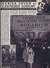 Coupure de presse Clipping 1963 Marisa Pavan Jean-Pierre Aumont  (1 page)