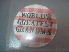 WORLDS GREATEST GRANDMA PINBACK BUTTON