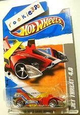 2011 Hot Wheels #227 HW VIDEO GAME HEROES * JET THREAT 4.0 * DARK RED WING FOLD
