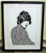 The Beatles/While My Guitar Gently Weeps A3 size lyric art print/poster