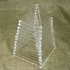 a Chakra Set of 12 pcs of Quartz Crystal Singing Pyramids Crystal Singing Bowl