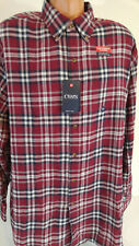 Chaps 2XB Performance Flannel Long Sleeve Shirt Mens Big and Tall Red Plaid