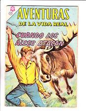"""Aventuras De La Vida Real No 117 -1965 -Spanish -    """" Moose Attack Cover! """""""