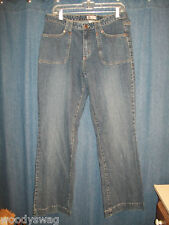 Faded Glory Stretch Jeans Ladies 14 Medium Stone Wash 1% Spandex 99% Cotton