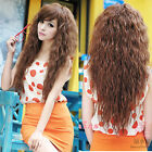 Women's Sexy Long Wavy Curly Full Wig Fluffy Side Bang Hair Cosplay Party Wigs