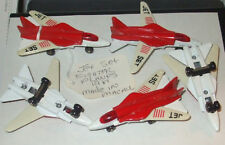 1981 MATCHBOX LESNEY SKYBUSTERS #27 RED Grumman F-14 TOMCAT SWING WING JET