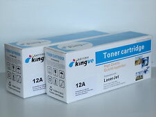 2pk Compatible Laser Toner For HP 12A (Q2612A) fits HP 1012 1022 3020 12A