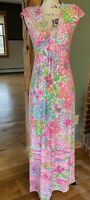 Lilly Pulitzer Maxi Dress, Small, Pink Floral