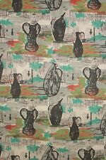 Vintage Fabric mid century modern design material 1950s French upholstery weight