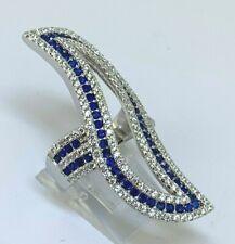 Cocktail Ring Saphir - Zirkonia    925er Silber  # 52