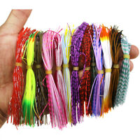 60x Silicone Skirts Windless Squid Soft Fishing Hooks Lures Beard Jig Baits