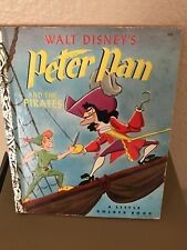 Vintage Walt Disney's Peter Pan And The Pirates - a Little Golden Book (1969)