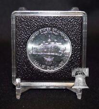 30mm Half Dollar 2x2 Coin Display Holder QUADRUM INTERCEPT Capsule Snap + Stand