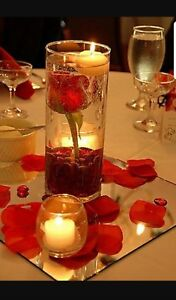 NEW 40 bulk Cylinder Vases Wedding Glass Table Centerpiece Candle holders