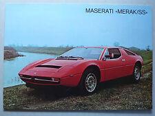 Prospekt Maserati Merak/SS, ca.1979, 2 Seiten, italienisch/englisch/französisch
