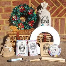 Beginners Rag Rug Wreath Kit w/ Instructional DVD -Ragged Life- Christmas Spring