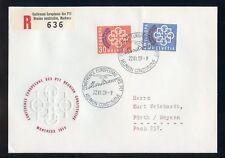 SCHWEIZ Nr.681-682 SCHMUCK-R-FDC ESST 22.6.1959 ME 30,-++ !!! (120188)