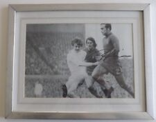 Ron Harris(Chelsea) Hand Signed Large Framed Action Photo V Leeds