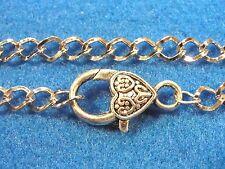 "5Pcs. Tibetan 8"" (20cm) Silver Charm Bracelet Chains w/ 25mm Lobster Clasps B13"