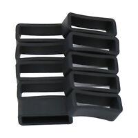 10stk Gummi Armband-Schlaufe Schnalle Keeper Ersatz Set für Uhrenarmbänder