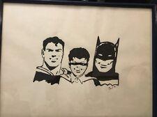 Worlds Finest Superman Batman Robin original Pen Ink Art work