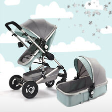 Baby Pram Newborn Buggy 3 in 1 Carrycot Combi Travel System Pushchair