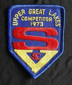 """1973 """"SKOKIE VALLEY SKATING CLUB"""" IL ILLINOIS UPPER GREAT LAKES ICE SKATE PATCH"""