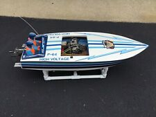R C Gas Crackerbox Boat With A Fiberglass Hull