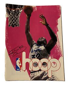 Shaquille O'Neal Hoop Magazine NBA Program 1995-96 Charlotte Hornets