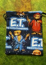 Blue E.T. dice bag, card bag, makeup bag