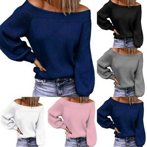 Jumper Tops Knitted Sweater L-3XL Ladies Long Sleeve Pullover Women Casual