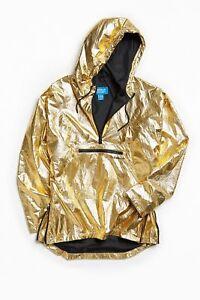 NEW Adidas Originals Fontanka 1/2 Zip Pullover Jacket Men's Metallic Gold BQ2000