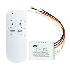 UK Wireless ON/OFF 180-240V Lamp Remote Control Switch Receiver +Transmitter Kit