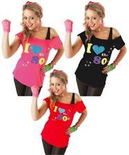 Ladies I Love The 80s T Shirt Short Sleeves Womens Retro Pop Star Tees Top NEW
