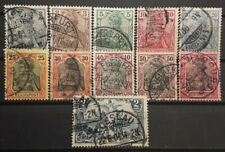 Germany 1900 (lot of 11) USED. sss