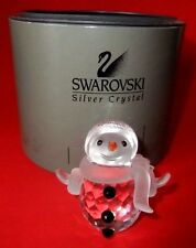 "Swarovski~Crystal ~""Snowman""~&#03 4;Cheerful Times""~ Art. 7475~ Nr 000 605~Box~Euc"