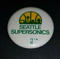 1970's 80's Seattle Supersonics NBA Vintage 2 1/4 Inch Basketball Pinback Button