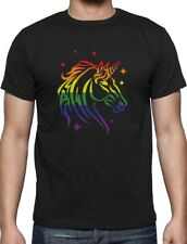 Pride Parade Gay & Lesbian Rainbow Unicorn T-Shirt Gift Idea