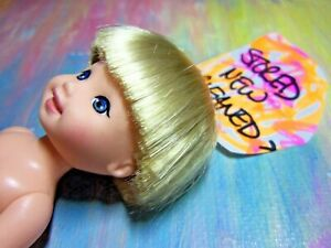 Mattel Kelly Tommy Doll Clothes *New Naked Tommy Doll Blonde/HUGE Blue #15*