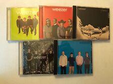 WEEZER CD LOT OF 5! BLUE,RED,GREEN,PINKERTON,MAKE BELIEVE!