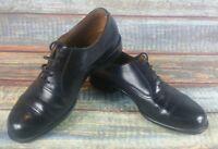 Mens Black Italian Leather Bata Shoes UK Size 7