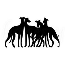 United Fight Team Greyhound Dog Sticker Laptop Window Glass Decor Car Wall Decal