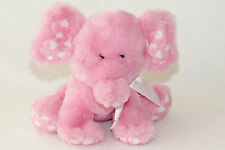 "Ganz Pink Emerson Eluvphant Elephant White Heart Stuffed Plush Toy 8"" HV9031"