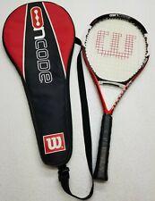 Wilson Ncode N5 Oversize 110 Tennis Racket Racquet 4 3/8 Grip w/ Case