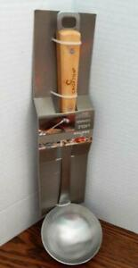 """CROFTON Soup Ladle - Stainless Steel and Bamboo - 13"""" Long - NEW in Package"""