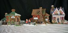 Department 56 3 New England houses Semples/Vera Mae'S/Revere Silver 1 accessory