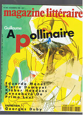 MAGAZINE LITTERAIRE N°348  1996  GUILLAUME APOLLINAIRE