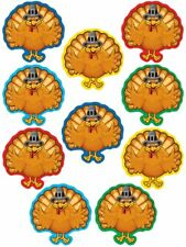 TCR 5288 Fall Turkey Thanksgiving Cut Outs Bulletin Board Classroom Decorations